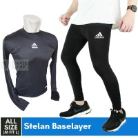 PROMO PAKET STELAN BASELAYER MANSET CELANA LEGGING STRETCH RUNNING GYM