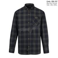 Kemeja Flanel Jumbo Pria - Baju Flannel Big Size - Ukuran Besar Cowok