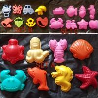 Cetakan Pasir Kinetik Cetakan Play Doh set 8pcs murah