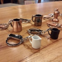 Key Ring gantungan kunci mokapot milk jug kettle portafilter coffee