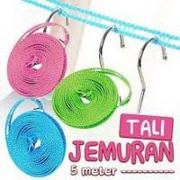 Tali Jemuran Baju Praktis Kuat Tahan Lama Premium Quality Panjang 5 M