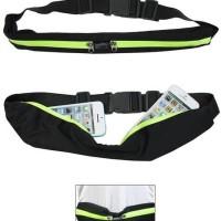 Tas Pinggang Olahraga Jogging Belt Sport Double Pocket Running Belt