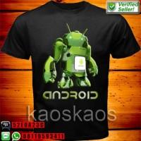Kaos android transformers Ukuran Anak No.0,1,2