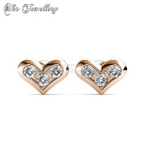 Her Jewellery Kolina Rose Gold Earrings - Anting Crystals Swarovski®