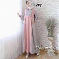 Baju Muslim Gamis Syari Pesta Wanita Melinda Maxy Terbaru