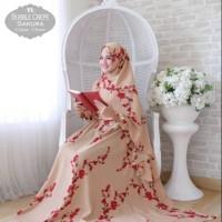 Baju Muslim Gamis Syari Pesta Wanita Bubble Sakura Terbaru