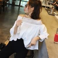kaos wanita butterfly atasan korea style baju vintage bangkok design