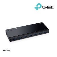 TP-LINK UH700 USB 3.0 7 Port Hub Black With Power Adapter Adaptor Luar