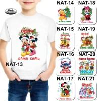 Baju / Kaos Anak Laki-laki / Perempuan Tema Karakter Natal