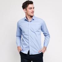 VM Kemeja Polos Panjang Slimfit Biru Kemeja formal