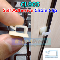 CL805 Cable Clip Wire Mount Clamp Tie Ikat Kabel + Self Adhesive Klem