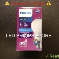 Lampu Bohlam LED Philips 6 Watt Putih/Cool Day Light (6W 6 W 6Watt)