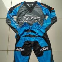 Setelan Anak Motor Cross / Baju MotorCross Anak ktm biru