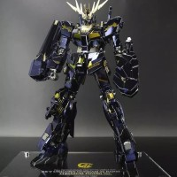 Bandai MG 1/100 Unicorn Gundam Banshee Titanium Finish