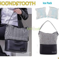 PMS75 COOLER BAG NATURAL MOMS HOUNDSTOOTH TAS ASI