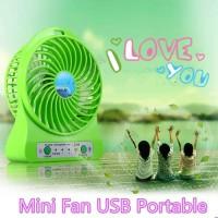 Ruibao Mini Fan USB Portable / Power Bank Kipas Angin Mini Portable