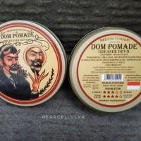 DOM POMADE GREASER DEVIL MEDIUM HOLD OILBASED 100GRAM FREE SISIR SAKU