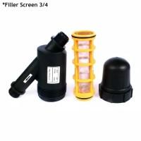 Screen Filter Fertigasi Penyaring Air 150 Mesh Hidroponik 3 Per 4 Dim