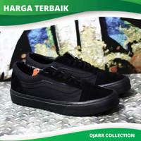 Sepatu Sekolah Vans Old Skool School Full Black Hitam Pria Cowo Murah