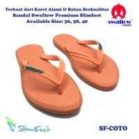 Sandal Swallow Premium Slimfeet Wanita CarrotOrange Tali Orange