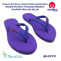 Sandal Swallow Premium Slimfeet Wanita GrapeViolet Tali Violet