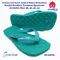 Sandal Swallow Premium Spectrum Pria GreenDark- Tali Hijau