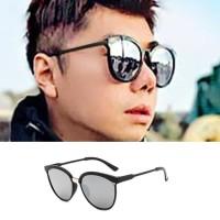 Kacamata Pria Silver Mirror Sunglasses - 2018JU1208