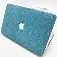 MacBook Case Denim Tosca-Blue