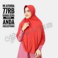 jilbab instan nafisa ayudia/jilbab serut tali jumbo/hijab olahraga