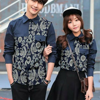 Couple Kemeja Pocket Batik Susan