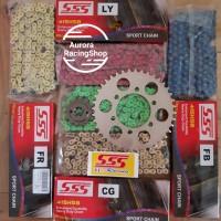 Gear Set SSS 415 Vixion / New Vixion / MX King & Rantai SSS tipe HSB