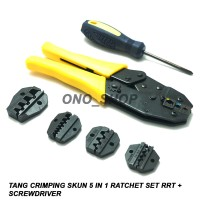 Tang Crimping Skun 5 in 1 Ratchet Set RRT + Screwdriver