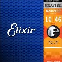 Elixir Electric Guitar Strings w NANOWEB Coating, Light (.010-046)