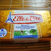 Unsalted Butter Elle & Vire (Mentega Tawar) 200gr