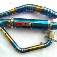 KNALPOT RACING KOU BLUE MOON FULL SYSTEM FOR MOTOR 150CC ALL TYPE