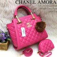 Termurah TAS CHANEL AMORA FREE POM & POUCH MGPP02