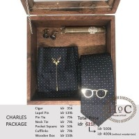 Groomsmen box bestman cufflinks dasi wedding bowtie CHARLES PACKAGE