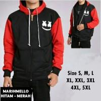 Jaket MARSHMELLO Hitam Merah Size S M L XL XXL 3XL 4XL 5XL