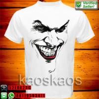 Kaos joker terrifying face Ukuran S sd XL
