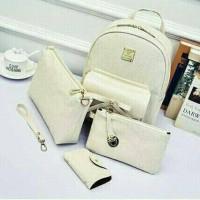 Terbaru Tas Import Cewek Backpack Set 4 in 1 Ready