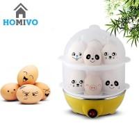 Homivo Alat Perebus Kukus Telur Egg Boiler Steamer Botol Bayi Electric