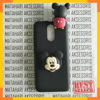 Case Nokia X6 New Blackmatte Matte Intip Boneka Doll 3D Mickey Mouse