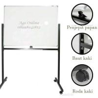 Whiteboard / papan tulis keiko magnetic single face + stand 120 x 240