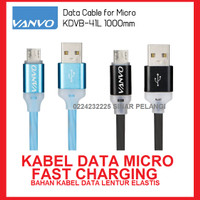 KABEL DATA CHARGER MICRO USB LAMPU LED KDVB-41L FAST CHARGING 907940