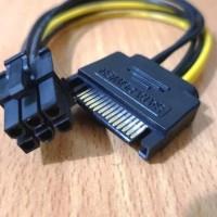 KABEL POWER SATA 15 PIN TO 6 PIN PCI-E VGA CARD / 15PIN TO 6PIN