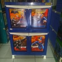 Napolly lemari plastik 3 susun character batman vs superman
