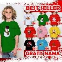 GROSIR,Kaos/Baju Anak Natal Santa Claus dll Sekolah Minggu