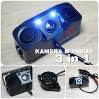 Rear Camera 3 In 1 / Sensor Kamera Parkir / LED Light Mobil Universal