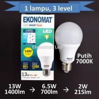 Lampu LED Ekonomat Smart 13W 3 LEVEL Putih Dim Dimmer Scene Switch