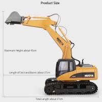 Mainan Remot Control Excavator Model Huina Toys RC Excavator 2 4 ghz